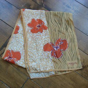 Authentic Lanvin 100% Silk Hand Rolled Japan Scarf